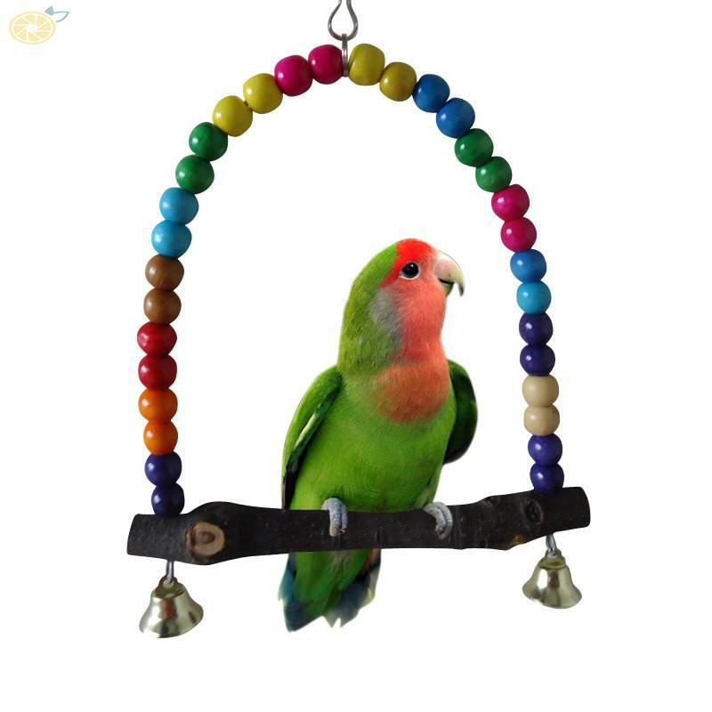 Baω Pet Bird Bites Toy Parrot Chew Ball Toys Swing Cage