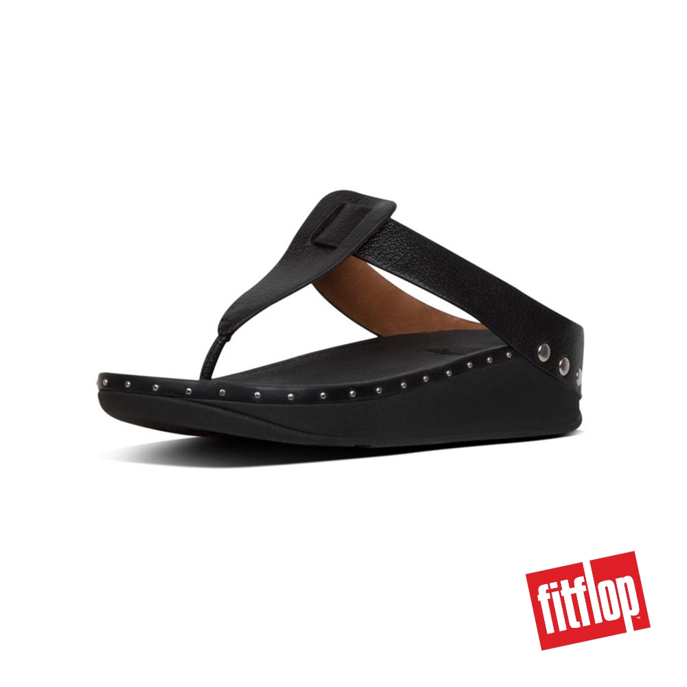 0a54ab2379a04 FitFlop™ Isabelle Stud Leather Women Toe Post Black
