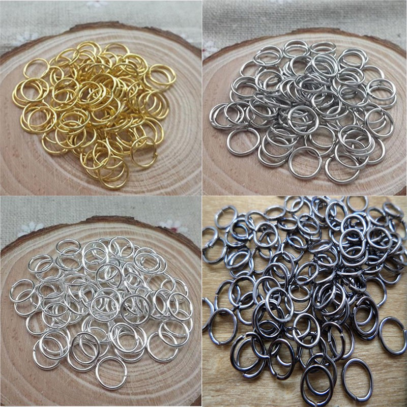 100x circle  6mm  Metal Jump Rings Open Connectors Jewelry Make Find.