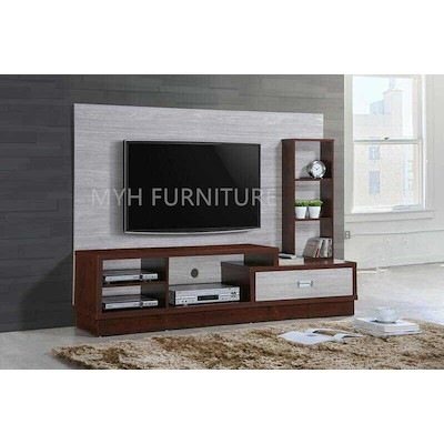 Modular Tv Cabinet With Feature Wall, Tv Stand Media Storage Cabinet