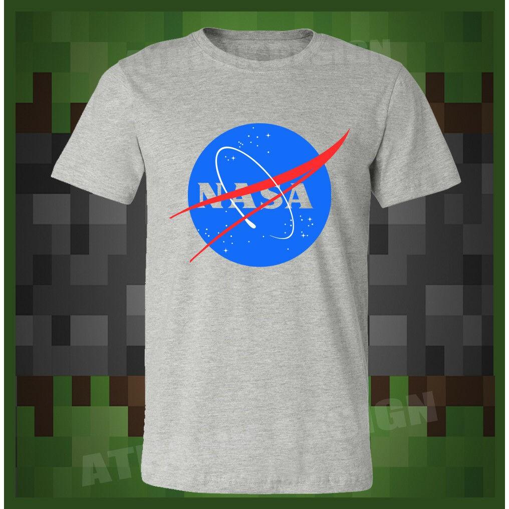 NASA Mens Geek Nerd Big Bang Theory Logo T-Shirt Retro Space Sheldon Cooper