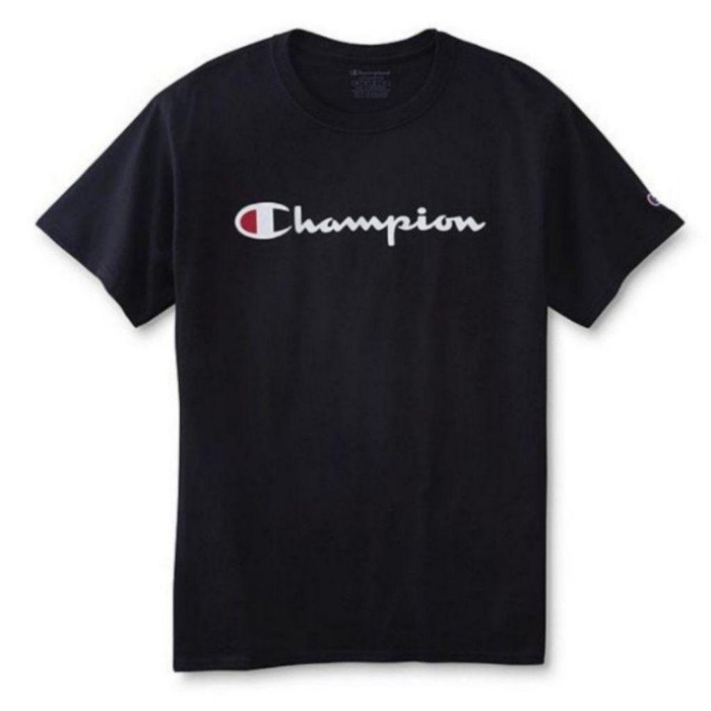 38e8d2dd Authentic Champion Script logo Cotton shirt   Shopee Singapore