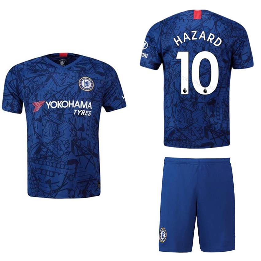 quality design 50a3d 60e0f 2019/2020 Boy Chelsea Jersey HAZARD Home Football kids Kit Football shirt  COD