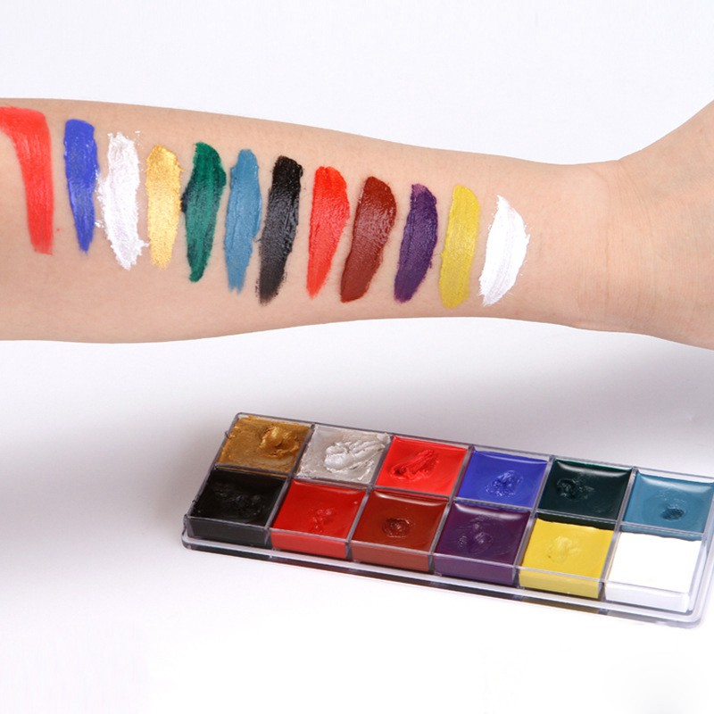 12 Color Face Body Art Painting Body Paint Oil Painting Tattoo Shopee Singapore