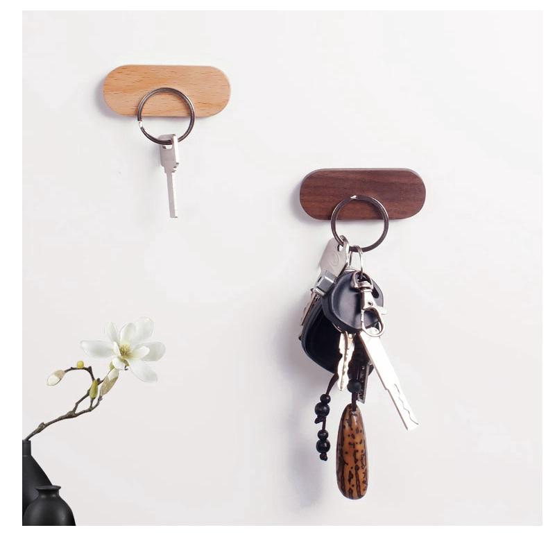 Wood Key Holder Wall Key Storage Organizer Strong Magnetic Key Rack Hanger Clerk Housekeeper Shopee Singapore