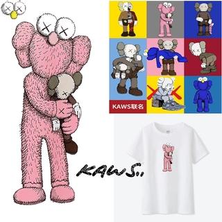 Uniqlo Kaws Cartoon 100% Cotton T shirt Unisex Women Men