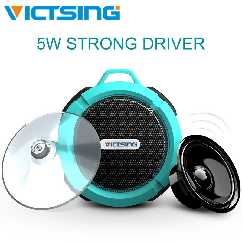 Wireless Waterproof Speaker with 5W Drive VicTsing Shower Speaker Suction Cup,
