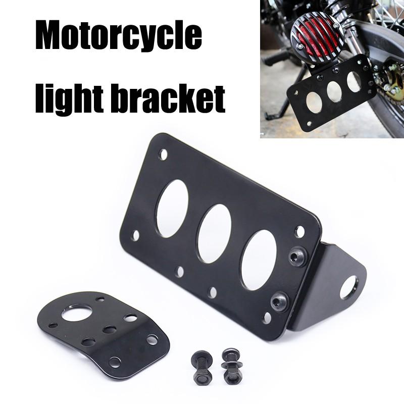 Side Mount License Plate Tail Light Bracket For Harley Chopper Bobber Cafe Racer