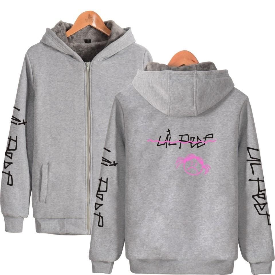 90453b59f5c54 Lil Peep Hoodies Zipper Kawaii Homme Anime Printing Loose Hoodie Sweatshirt  Streetwear Hoodies | Shopee Singapore
