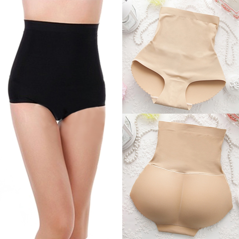 Womens High Waist Briefs Breathable Beige Panty Body Shaper Control Slim Tummy