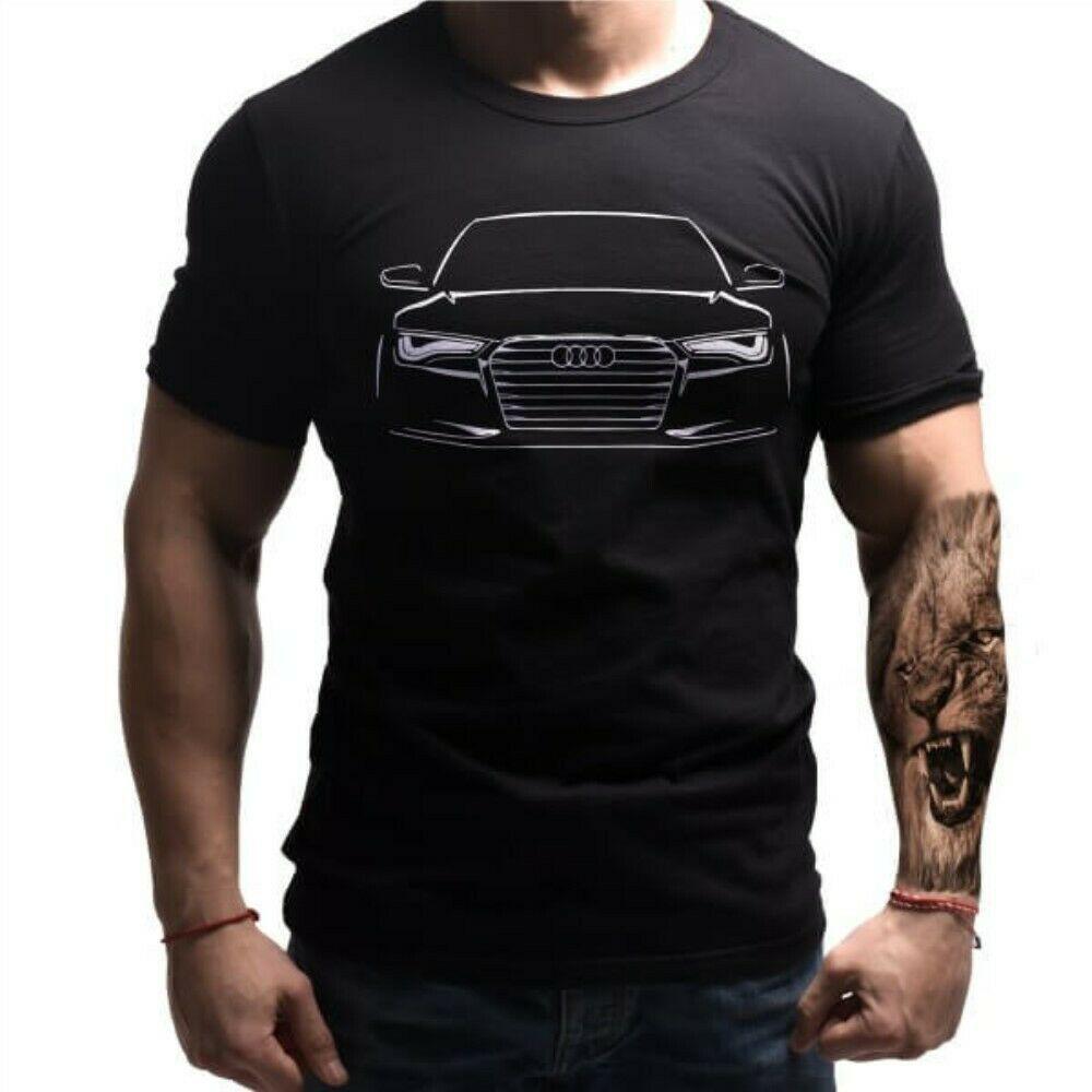 Audi Logo Auto Tshirt Emblem Car Moto Mens Shirt All Sizes S XXXL