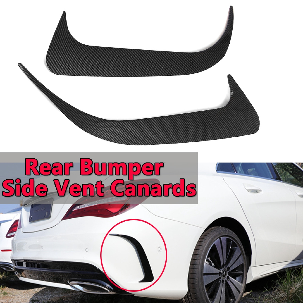 Carbon Fiber Look Rear Bumper Side Vent Canards For Mercedes-Benz W117  CLA200