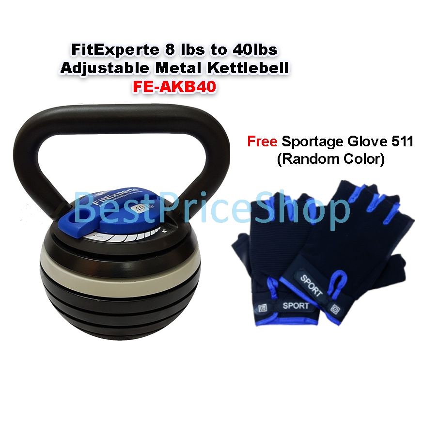 Adjustable Cast Iron Kettlebell Weights Strength Training Exercise 3.6KG-18KG