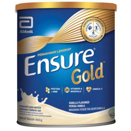 ENSURE GOLD 850gram VANILLA Powder For Adult 28 essential vitamins and minerals