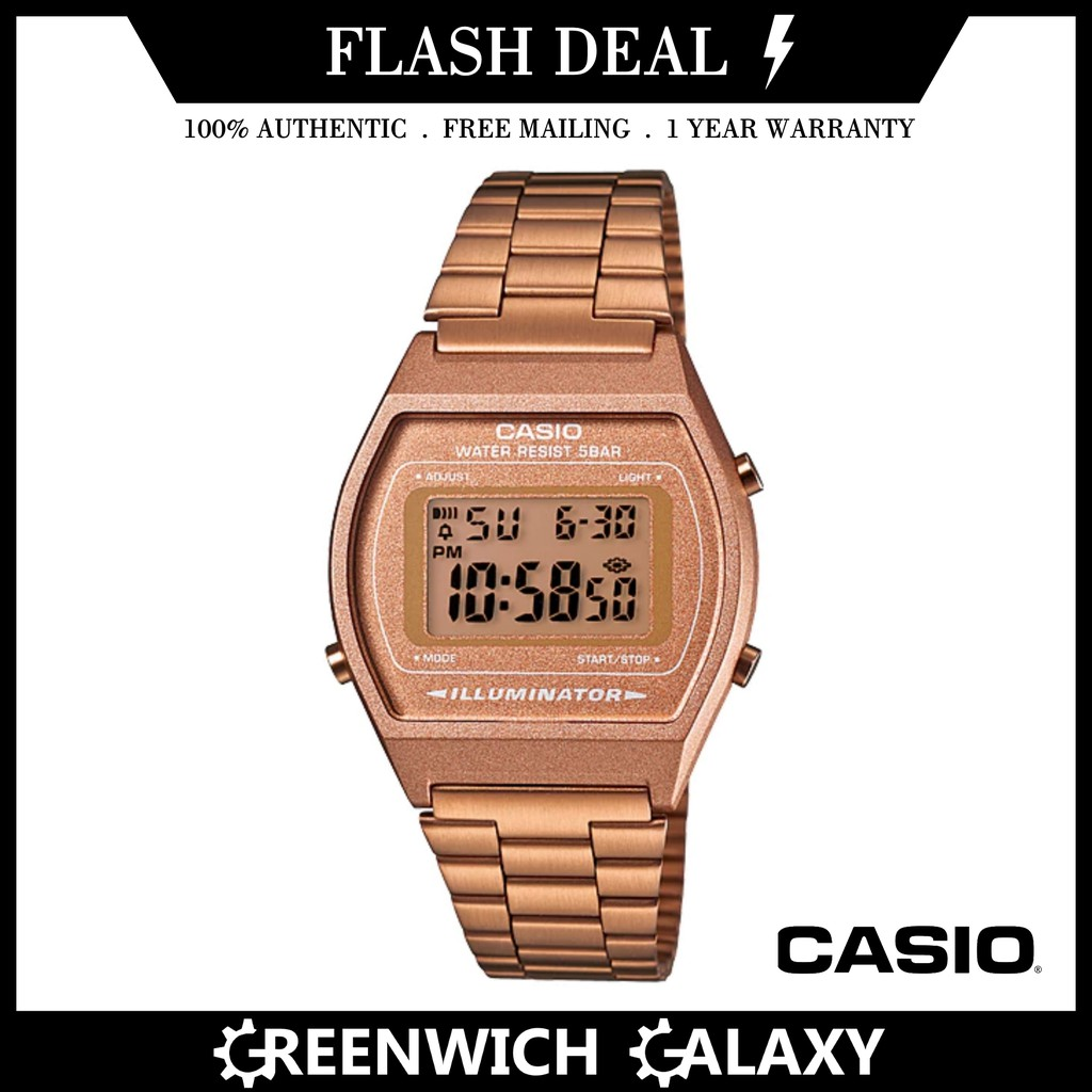 a7bd8b724f5 Casio Ladies Rose Gold Stainless Steel Bracelet Watch B640WC-5A ...