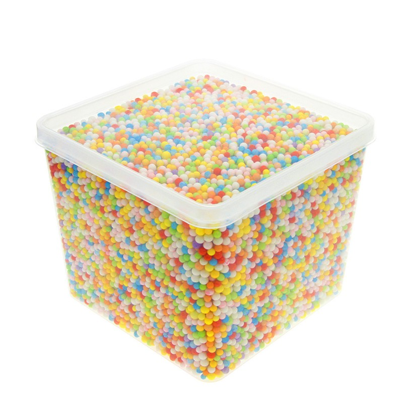 20000 Multi-colour 2-3mm Polystyrene Mini Styrofoam Beads Foam Ball Filler Gift