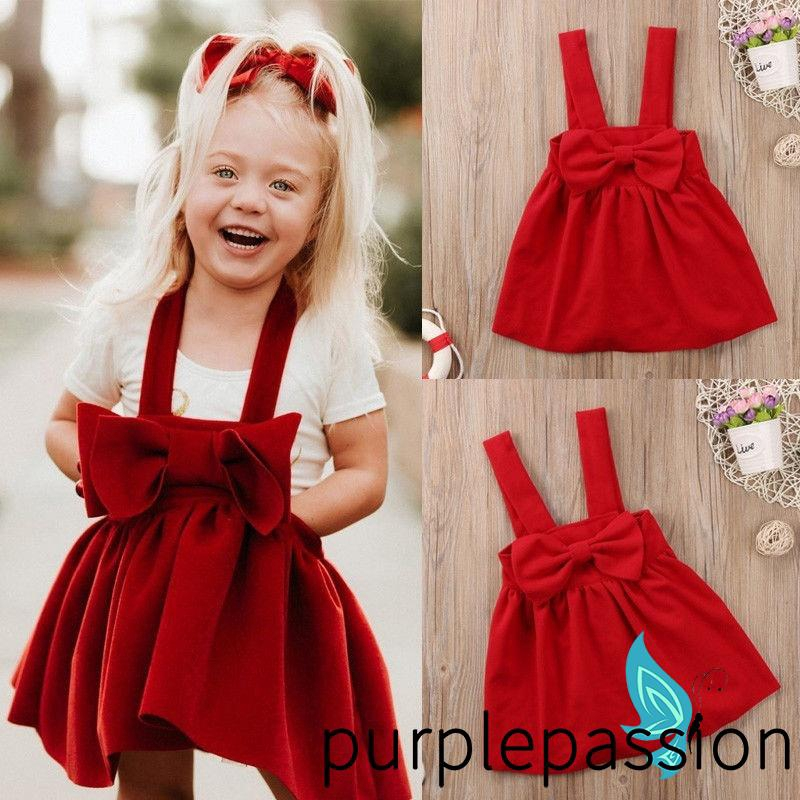 UK New Toddler Baby Girls Short Sleeve Casual Dresses Kids Sundress Outfit Dress