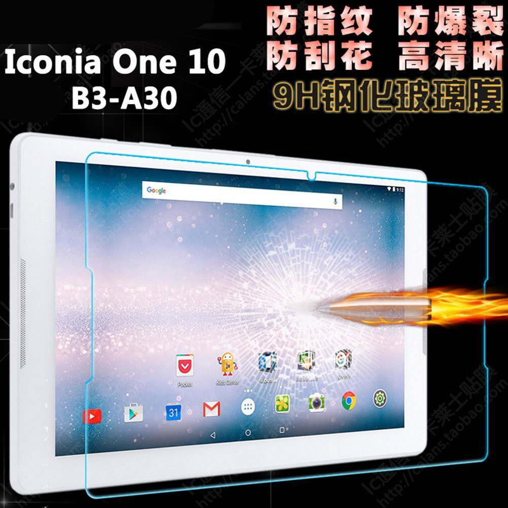 "Tempered Glass Film Screen Protector for 10.1/"" Acer Iconia One 10 B3-A30,"
