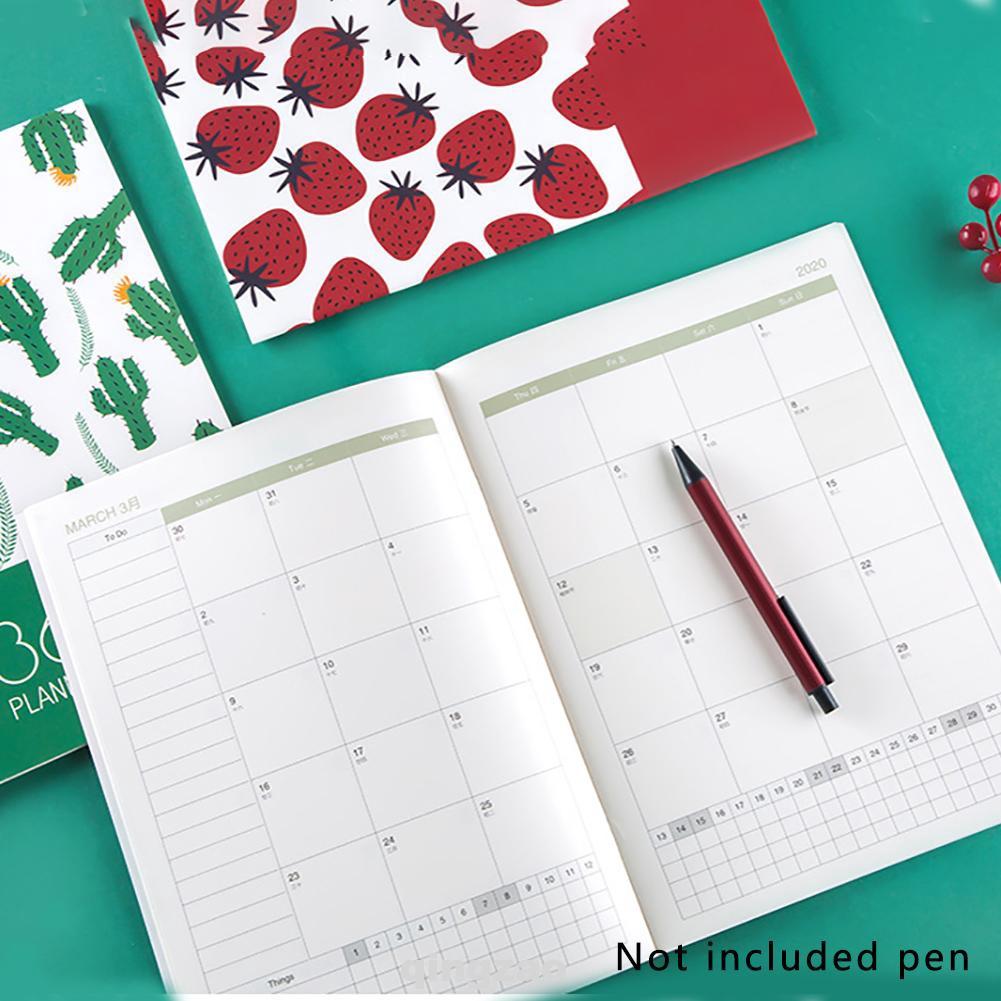 Agenda 2020 Planner Organisator A4 Diary Kawaii Fruit Weekly Monthly Notebook