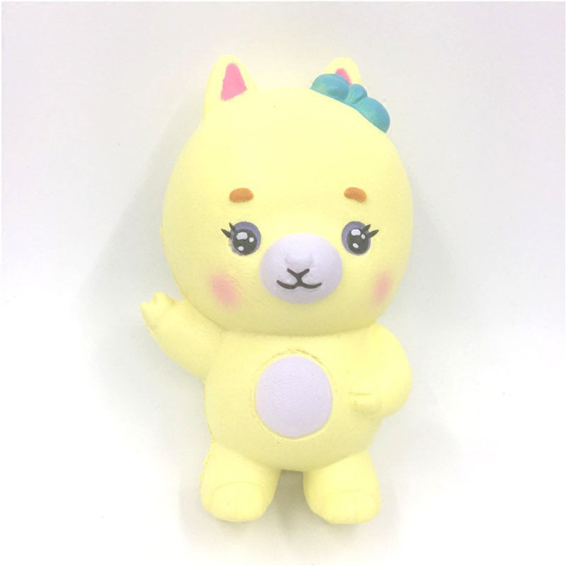 12.5cm Jumbo Cute Soft Squishy Goat Cream Scented Slow Rising Kids Funny Toys | Shopee