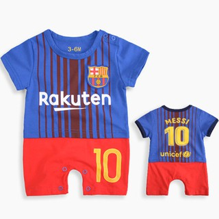 buy popular d60eb 3c0a5 Newborn Baby Romper Barcelona No.10 Messi Jersey Infant ...