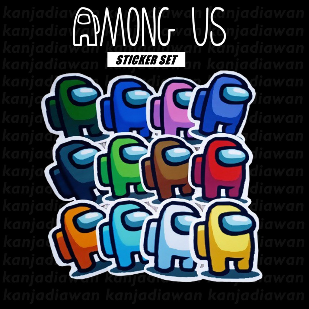 Among Us Stickers Per Set Ghost Among Us Dead Body Shopee Singapore
