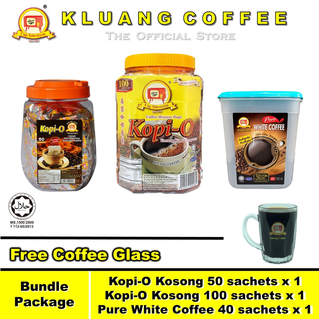 Kluang Coffee Cap Televisyen Kopi-O and Pure White Coffee ...