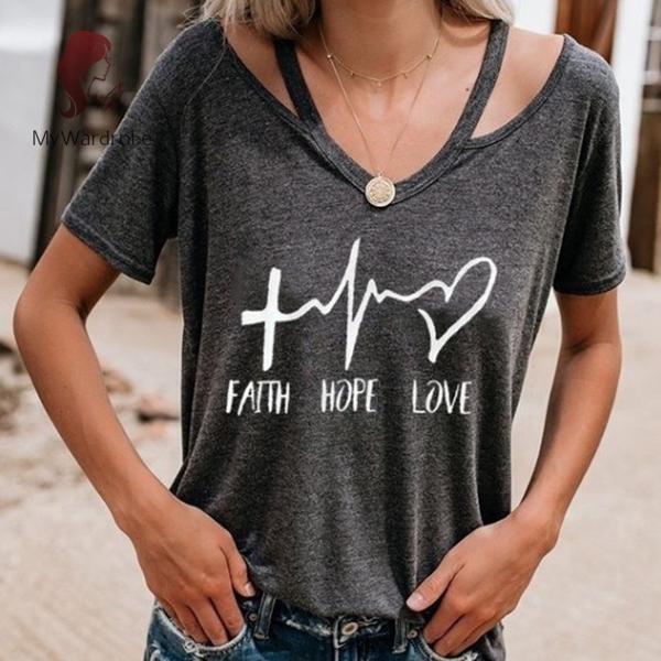 Details about  /Faith Love Hope short sleeve t-shirt