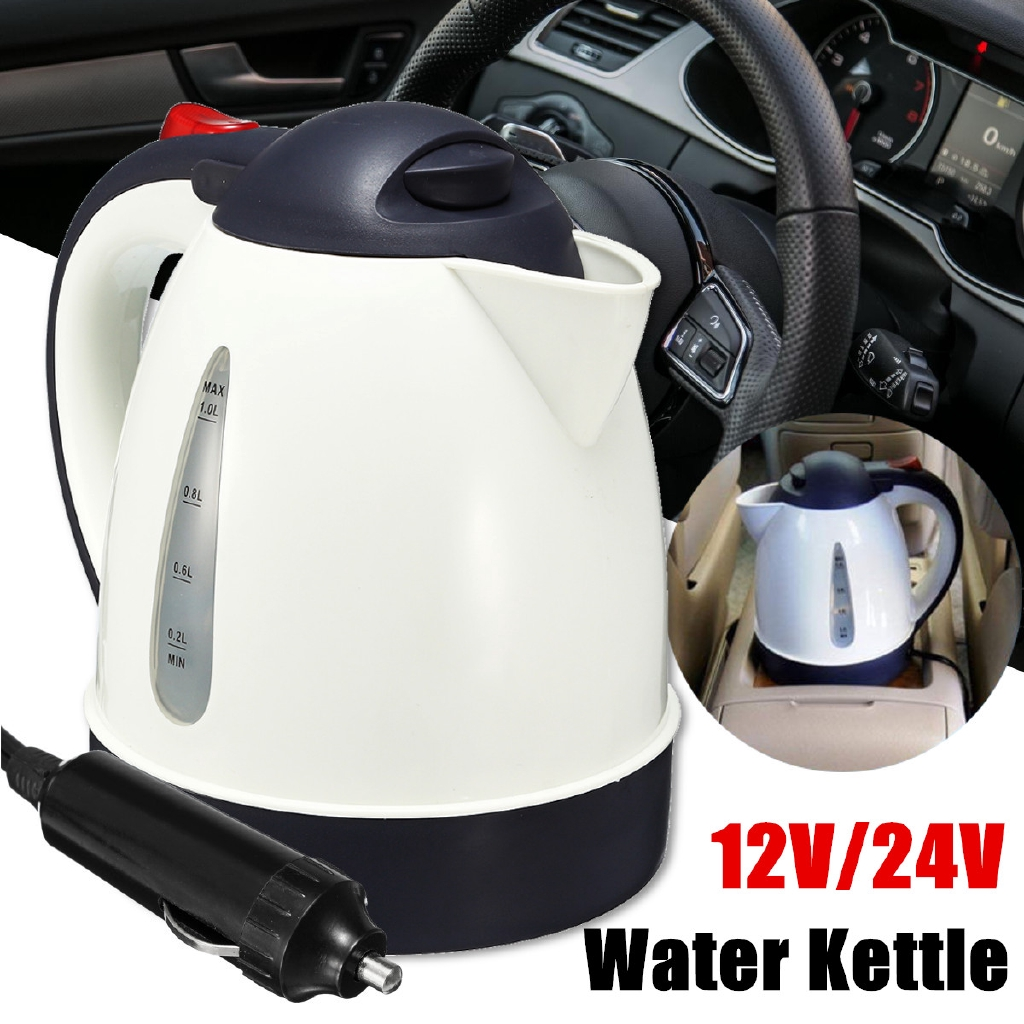 Car Kettle Auto Portable Water Heater Travel Mains Kettle Tea Coffee Milk 12V