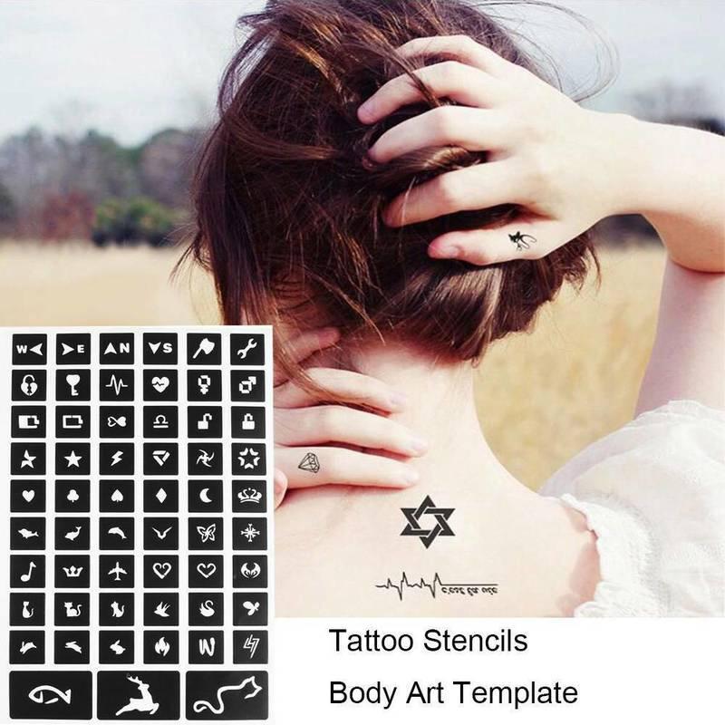 105pcs Body Art Paint Stencil Temporary Henna Tattoo Stencil Gifts Templates Decal Diy Shopee Singapore