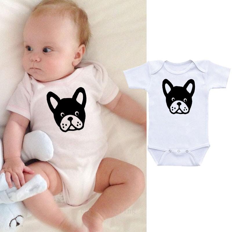 Newborn Babys Boys /& Girls Boston Terrier Short Sleeve Bodysuit Baby Onesie for 0-24 Months White
