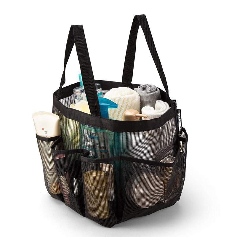 Mesh Shower Caddy Quick Dry Tote Hanging Bath Toiletry Organizer Bag