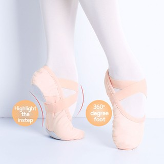 Children Adult Shinny Leather Ballet Dance Shoes Gymnastics Pointe size 25-40