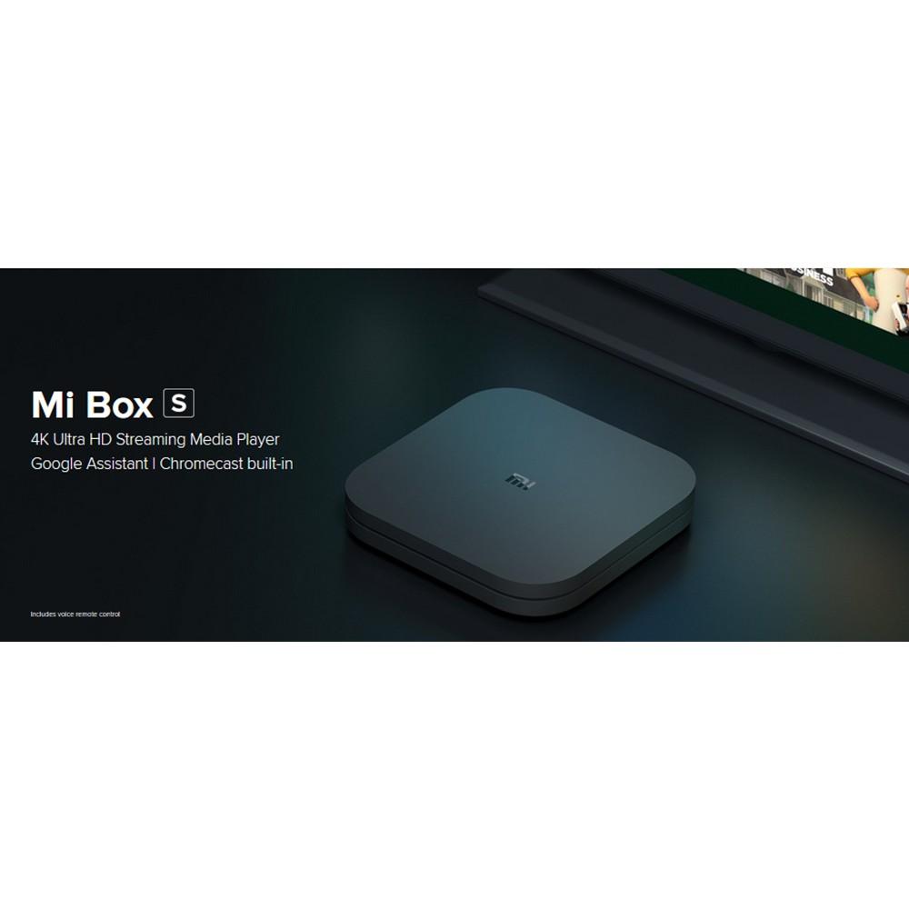 XIAOMI Mi Box S Android 8 1 Netflix 4K 2GB/8GB 4K TV Box International  Version