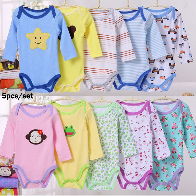 8314cf8684b Random delivery) 5PCS In A Pack Baby Boy Girls Carter s Romper ...