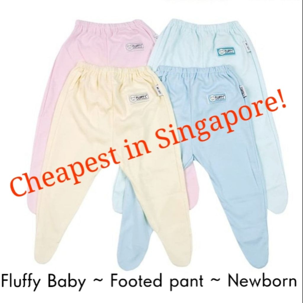 064587418 0-3 / 3-6 Libby baby newborn footed pants / footie | Shopee Singapore