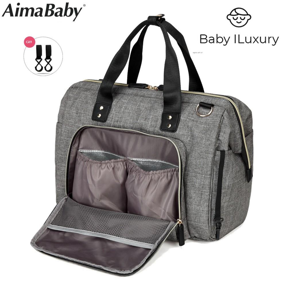Waterproof 4 Division Slots Baby Bag Diaper Mummy Handbag Shoulder Bag UK