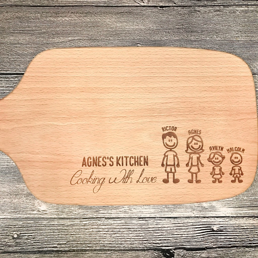 Personalised Family Engraved Chopping Board Shopee Singapore
