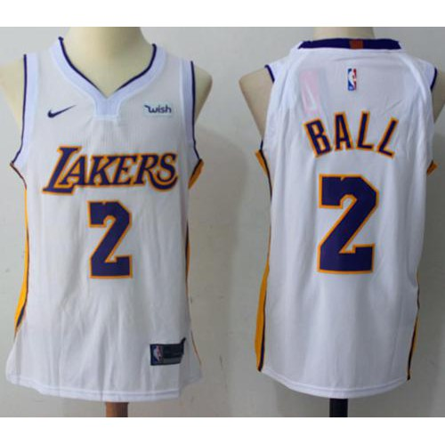 99384c8d078 Nice Nike Lakers  2 Lonzo Ball Purple NBA Authentic Statement Edition Jersey  Outlet