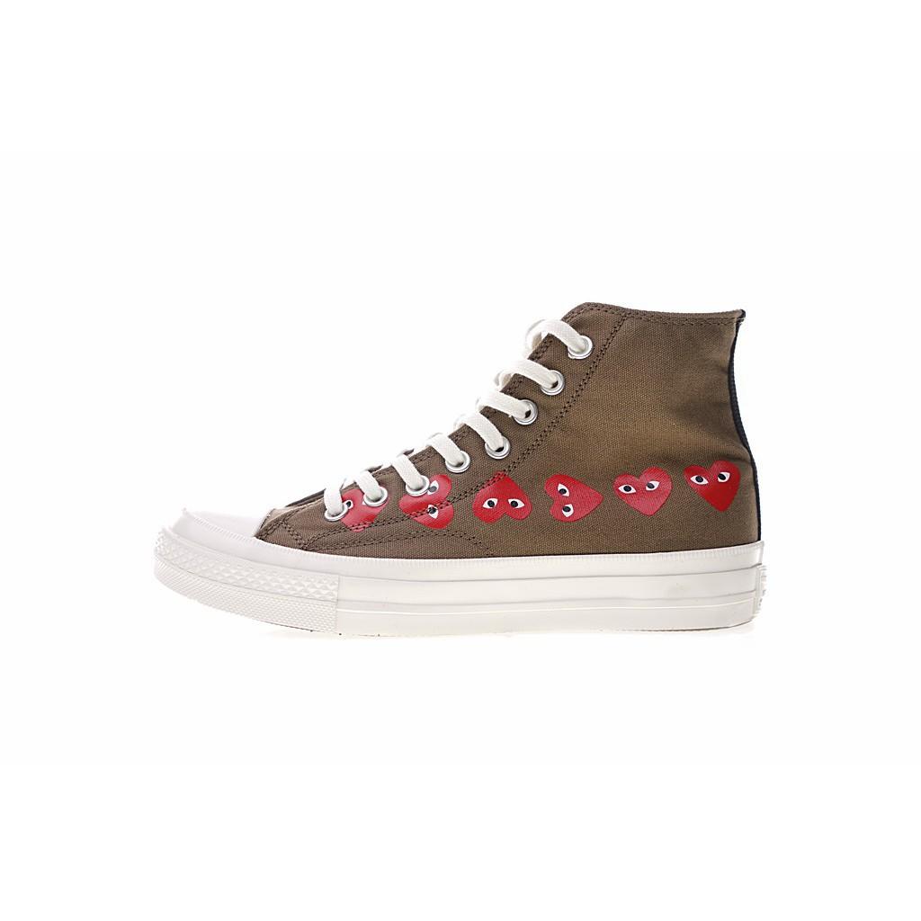 86e69b23dedc Genuine COMME des GARÇONS PLAY x Converse Chuck Taylor All Star HI Canvas  Shoes