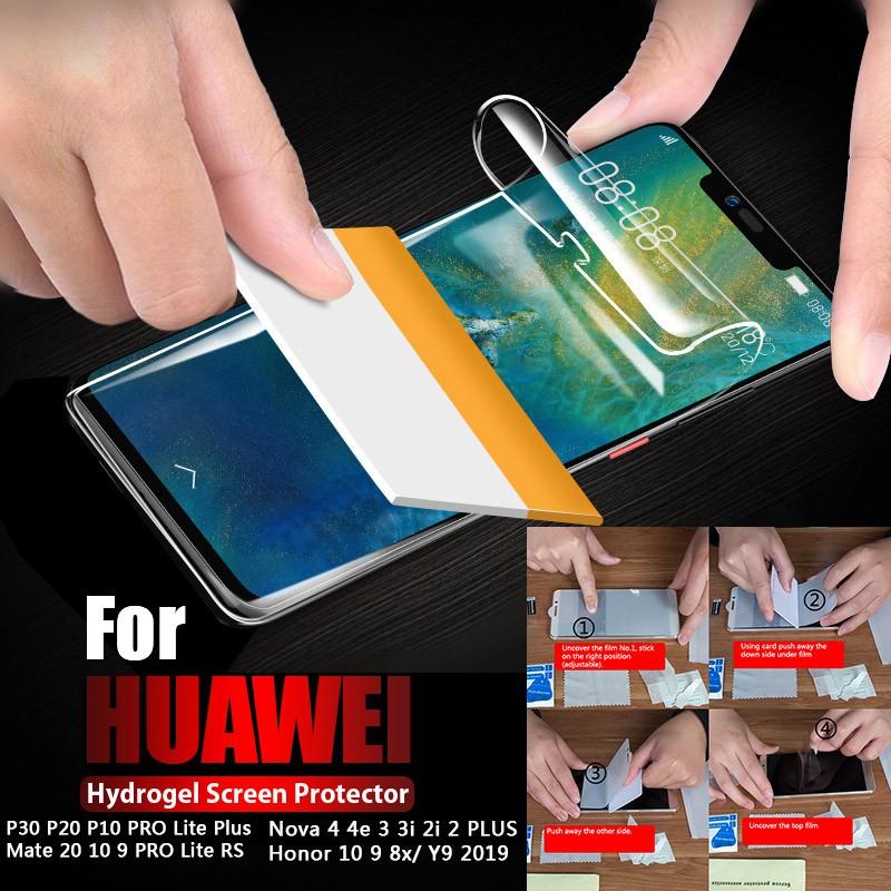 Hydrogel Full Coverage Soft Screen Protector Film For Huawei P30 PRO NOVA  4E P20 PRO MATE 20 PRO NOVA 2 3i Honor 9 P10