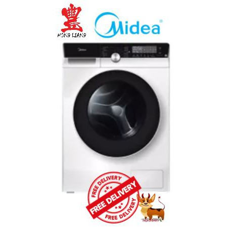 Image result for Midea MFK868W 8KG Knight Front Load Inverter Washing Machine  shopee.sg
