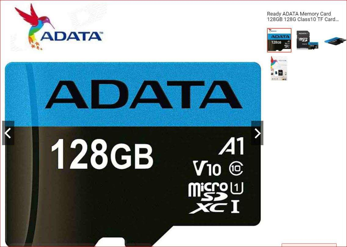 Ready ADATA Memory Card 128GB 128G Class10 TF Card Micro SD +