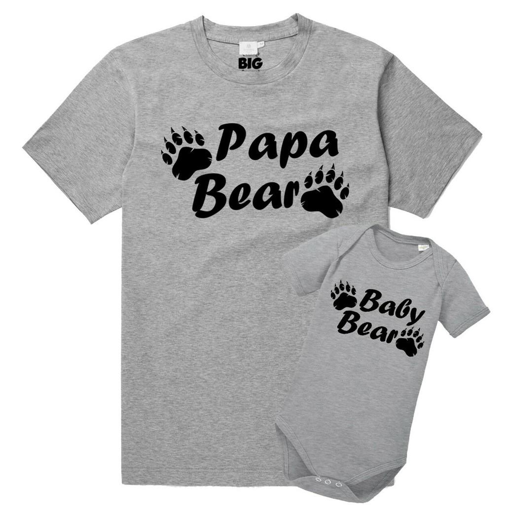 Big Men Little Men Vater /& Baby Erstlings Set Babybody /& T-shirt Body Strampler