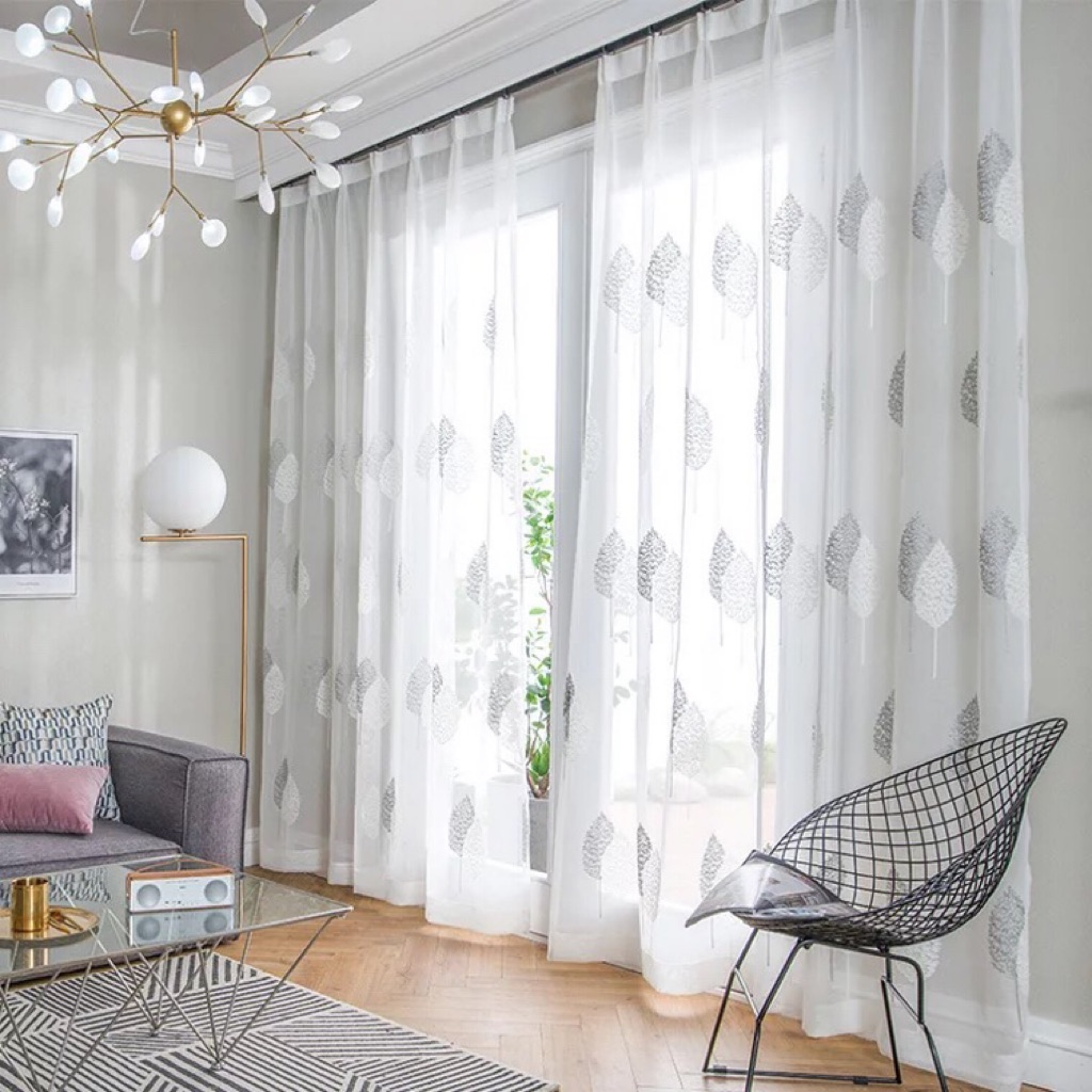 Nordic Modern Sheer Curtains For Living Room Bedroom Daylight Curtains Valance Shopee Singapore