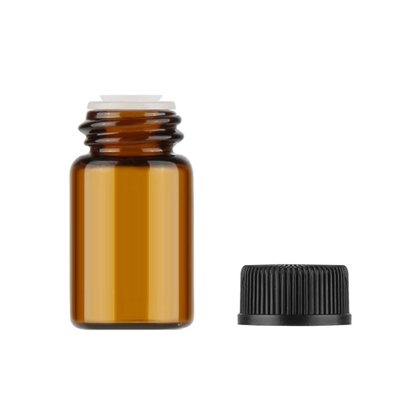 e9c1856fcf45 10pcs 1ml 2ml 3ml Mini Face Cream/Lotion Jars Amber Glass Sample BottleLOHN