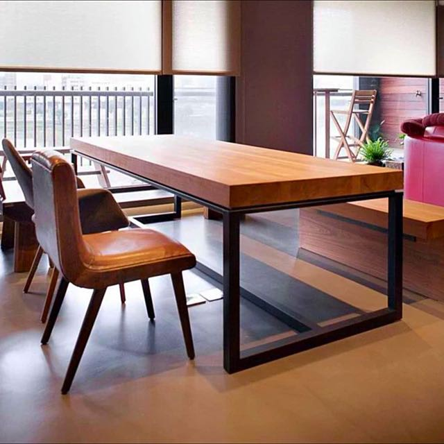 Industrial Loft Dining Table   Shopee Singapore