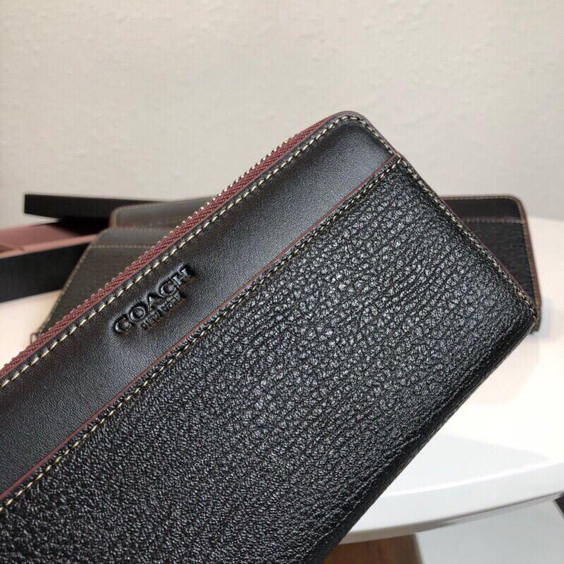 new style 330d2 6731f Coach F12130 long zipper men's wallet Long wallet fashion