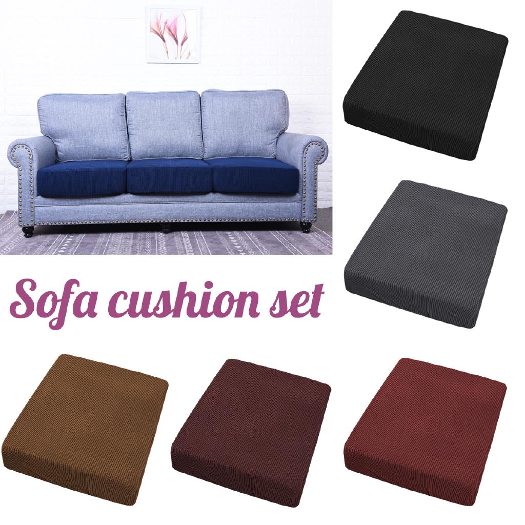 Sofa Stretchy Seat Cushion Cover Couch Slip Covers Replacement Protector Fabric