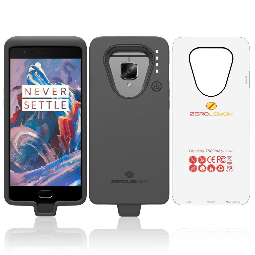 hot sale online 9ddd5 24431 ZeroLemon 7500mAh Battery Case for One Plus 3/3T